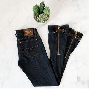 Ralph Lauren Madison 888 Buckle Zipper Jeans